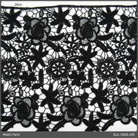 Guipure Lace Fabric, Fabric Samples Classical Black Guipure Lace