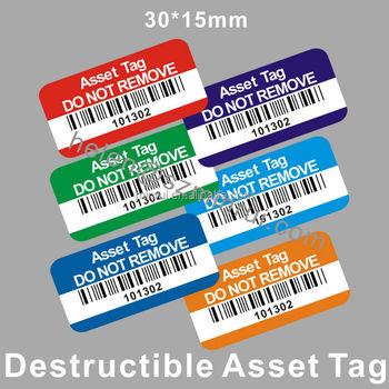 graphic relating to Printable Tamper Proof Labels named Tailor made Style and design With Your Symbol Basic safety Tamper Evidence Home Of Printable Barcode Sticker,Destrutcible Tamper Obvious Asset Label - Acquire Residence Of