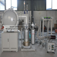Vacuum furnace for metal and ceramic materials at various stages during conversion from raw materials to finished product.