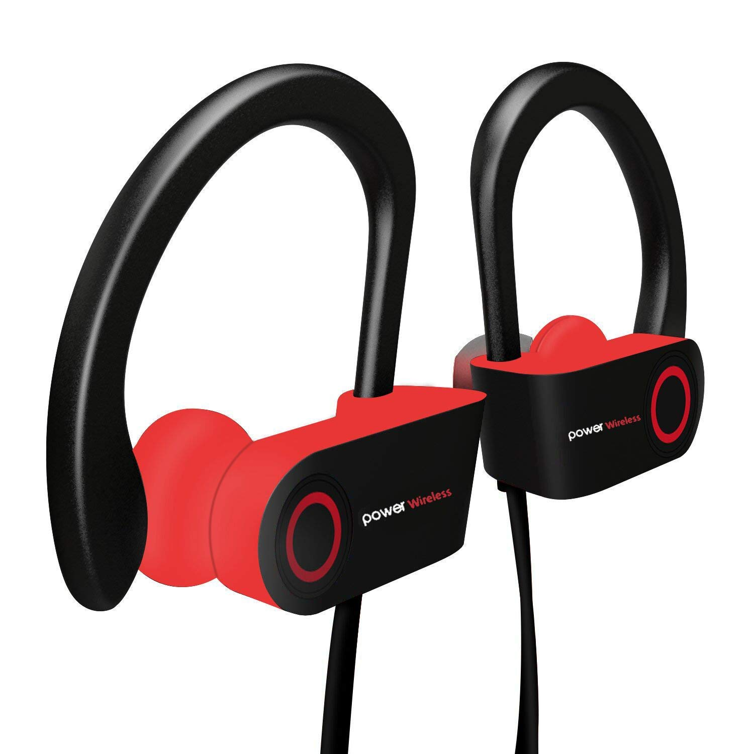 Bluetooth Headphones, Wireless Headphones, Wireless Earbuds Sport, HiFi Stereo In-Ear Earphones w/Mic, Case, 7-9 Hrs Playback Noise Cancelling Headsets (Comfy & Fast Pairing)