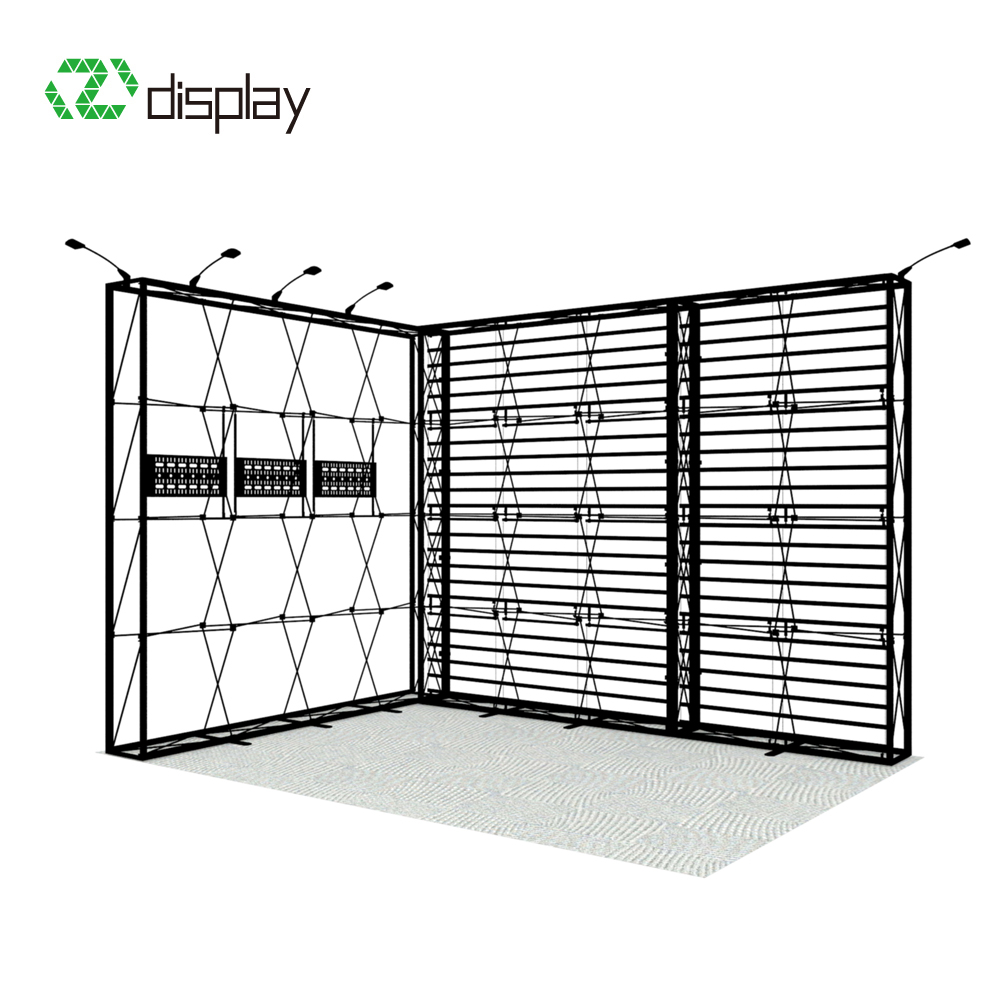 Aluminum backlit 10x10 pop up trade show booth