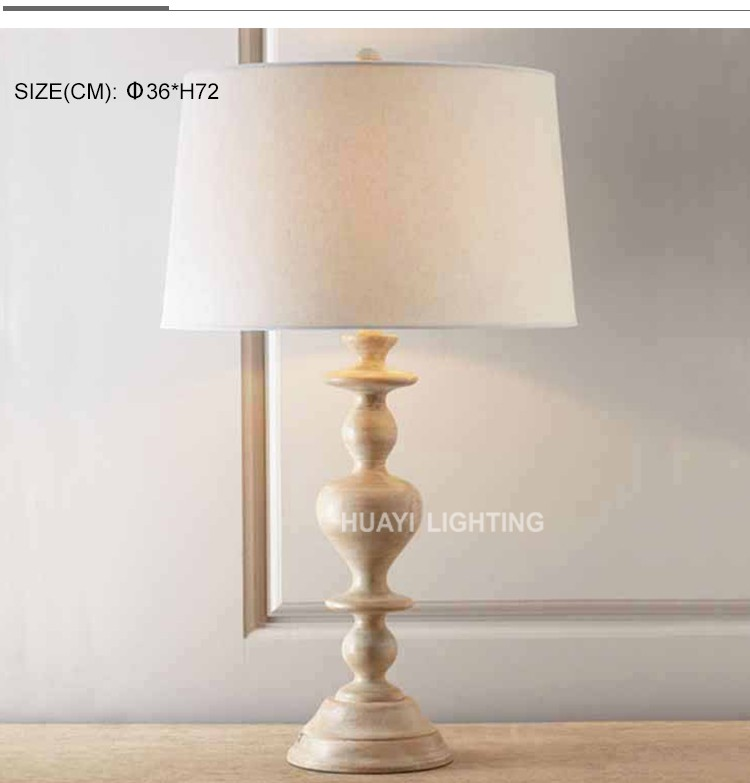Exquisite european aristocratic style solid wood trophy lamp&decorative table lamps