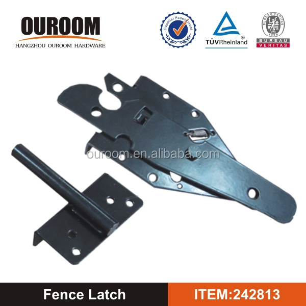 Popular for American Market For Wooden Door Antique Black Steel Residential Paddle Latch