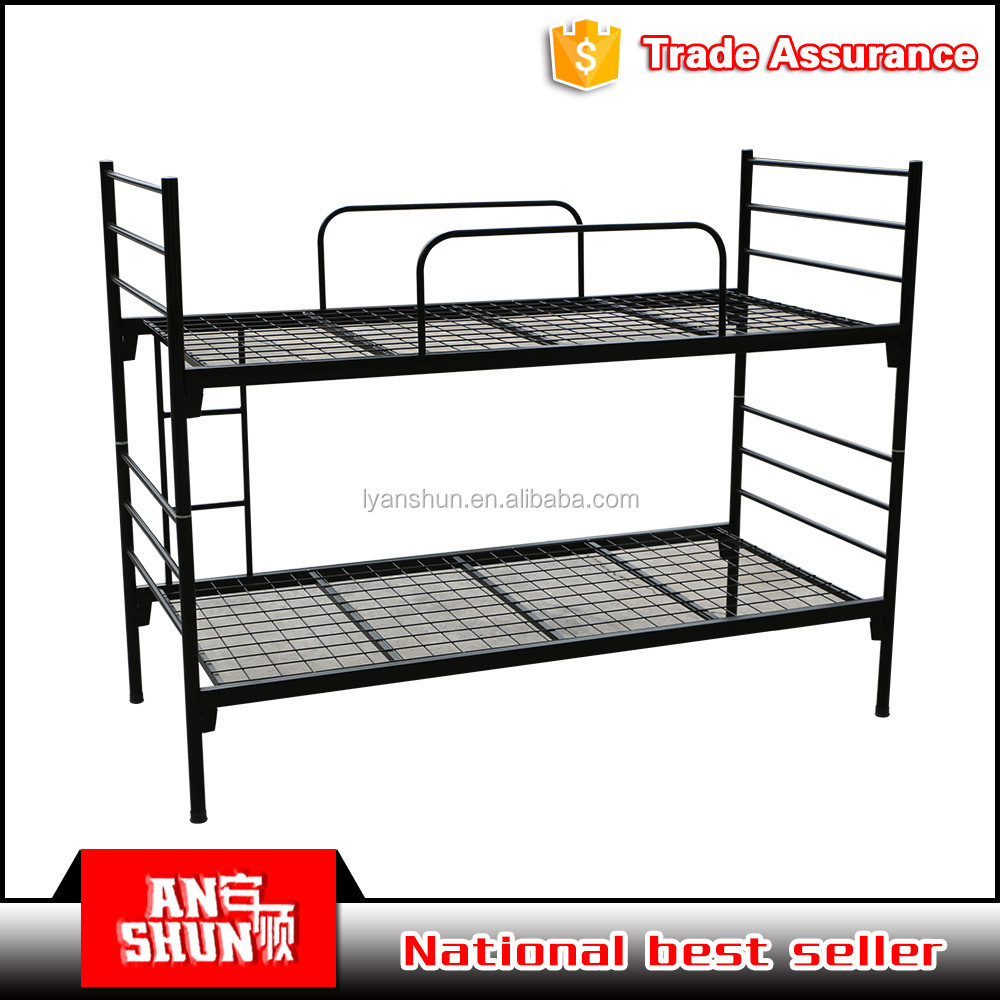 Steel double deck bed - Steel Tube Bunk Bed Steel Tube Bunk Bed Suppliers And Manufacturers At Alibaba Com