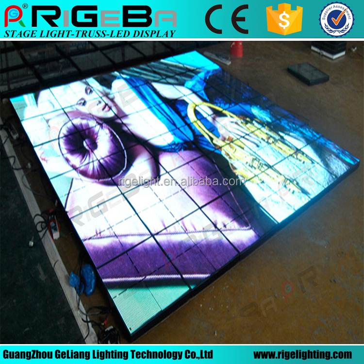 Portable IP65 P10 Outdoor colorful led <strong>video</strong> dance floor to display <strong>video</strong>