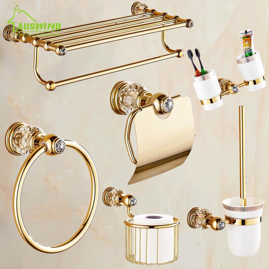 Aliexpress.com : Buy European Gold Bathroom Hardware Set