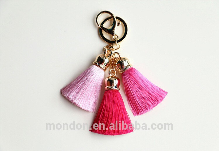 High quality key chain small leather tassels