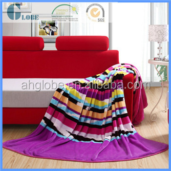 New design super soft twin size printing polyester mink blanket