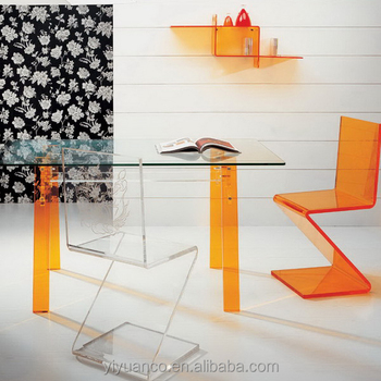 acrylic plexiglass furniture/colorful acrylic table/coffee table