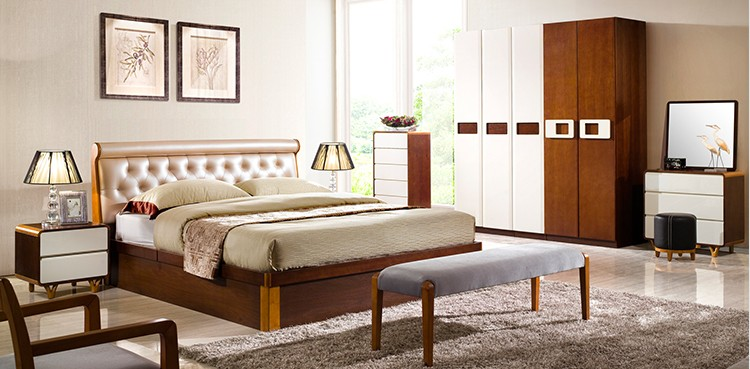 Modern wooden box beds