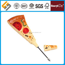 Hard Plastic Black Funny Pizza Ball Pen Bread BallPoint Pen with Magnet