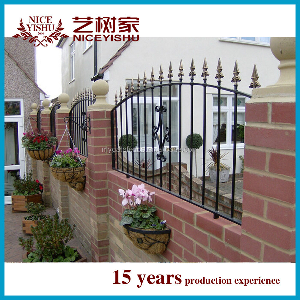 Cheap Fence Panels Iron Grill Design For Boundary Wall