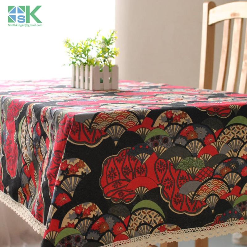 <font><b>Home</b></font> <font><b>decors</b></font> new Japanese style tea table cloth red table cloth and wind <font><b>bohemian</b></font> national black drape fabrics
