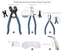 Professional Five Piece Mosaic Tile and Stained Glass Tool Set
