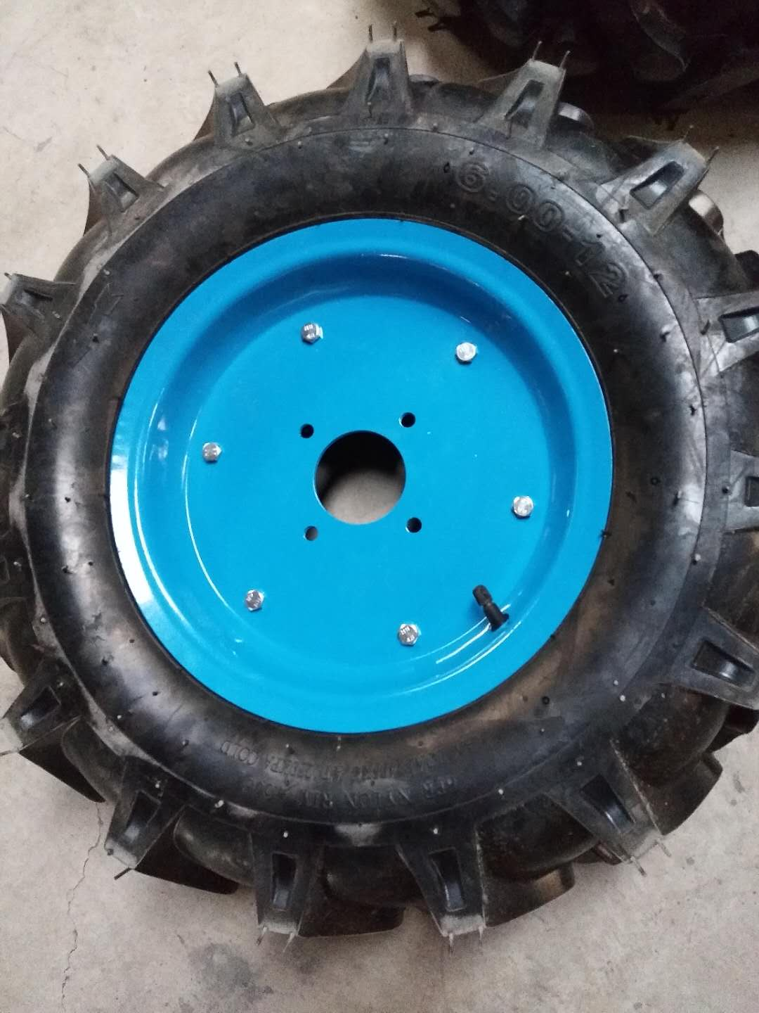 6.00-12 tractor tire and wheel with metal rim 12pr for tractor  tiller etc