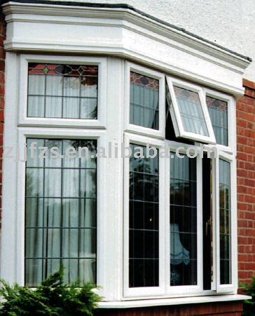 Fen tre saillant en pvc avec plombif re rectangulaire for Fenetre bay window