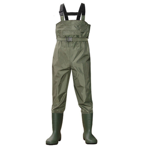 Basic style with inner pocket adjustable straps fishing suit plus size chest waders