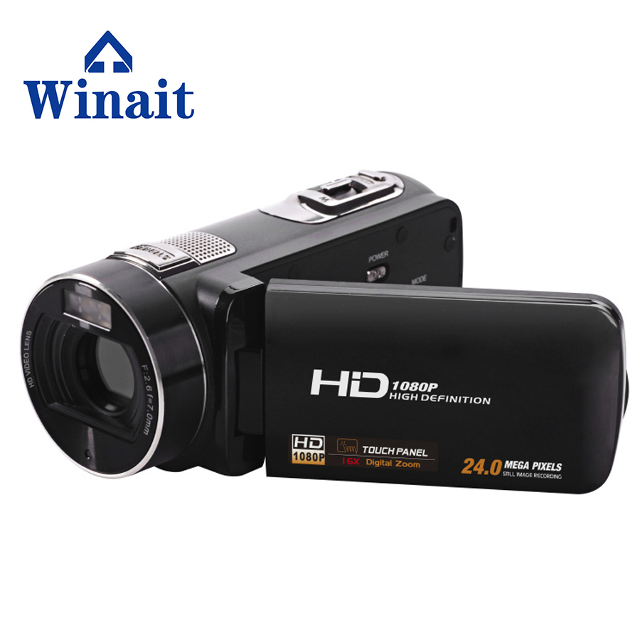 Full HD 1080P Video Camera Camcorder 24 MP 16x Digital Zoom LCD Touch Screen with 12x Telephoto Lens Mini Camera DV