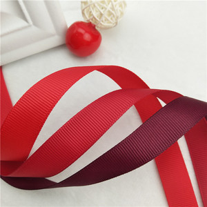 Wholesale High Quality Red Color Grosgrain Ribbon For Garment