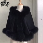 china factory wholesale quality cheap elegant women 100% natural raccoon fur collar shawl