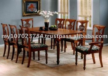 Classical Dining Set Classical Wooden Dining Chair Armrest Chair