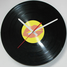 Decorative 30cm CD Record Red Lips Wall Clock for gift(T5587B)