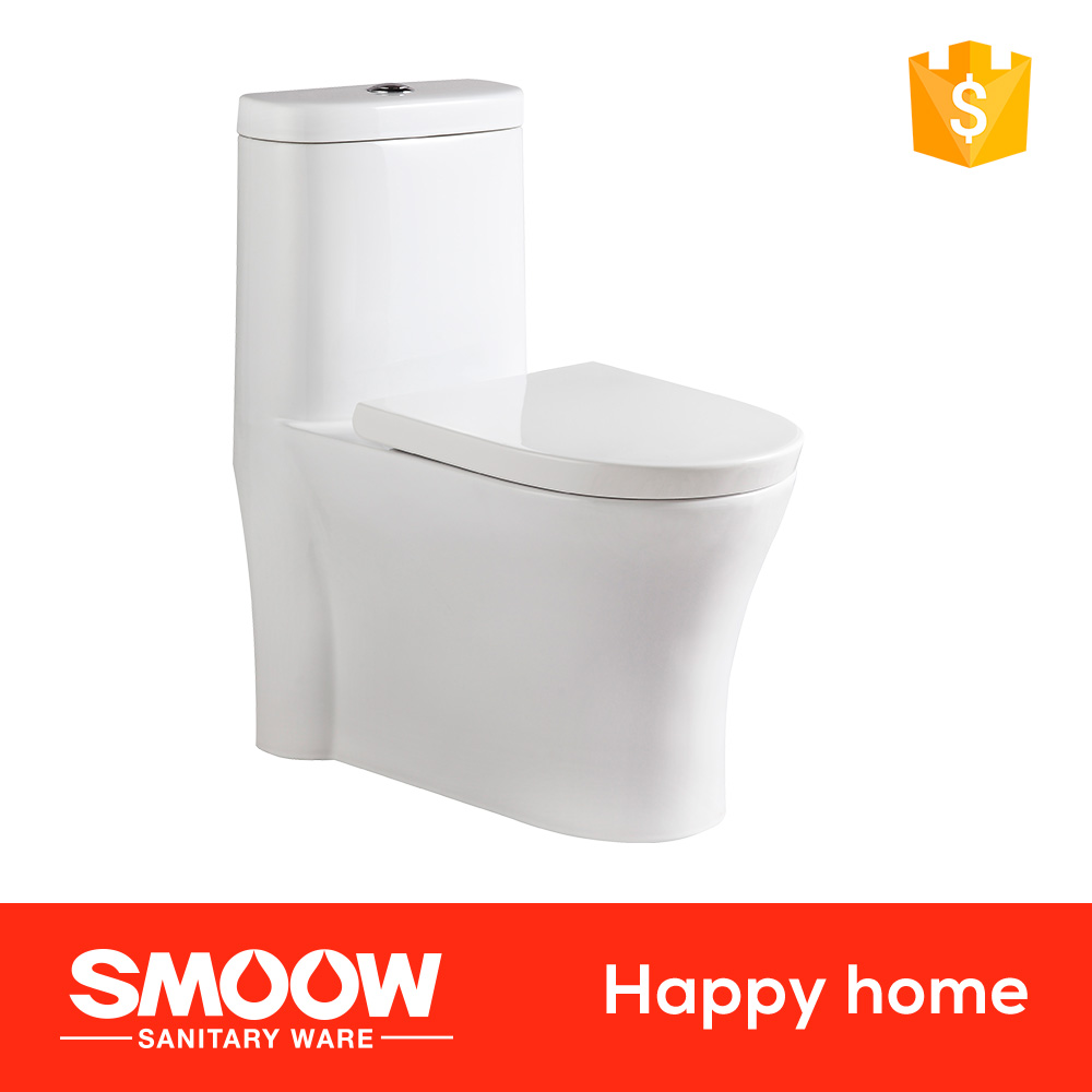 8046 S-trap Double holes 660*380*775 SMOOW Ceramic Siphon Closet Bowl Ware Standard Toilet for elderly