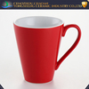 Fashion customized logo office red ceramic coffee cup wholesale