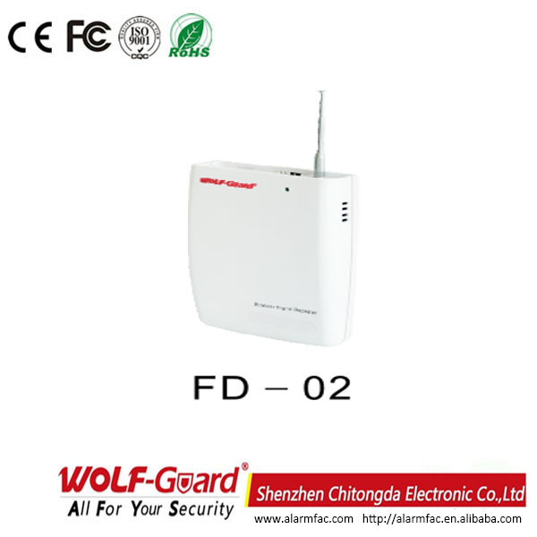 FD-02 Enhance Wireless Alarm Signal Receiver and Transfer Signal Wireless Rf 433 MHZ Signal Booster