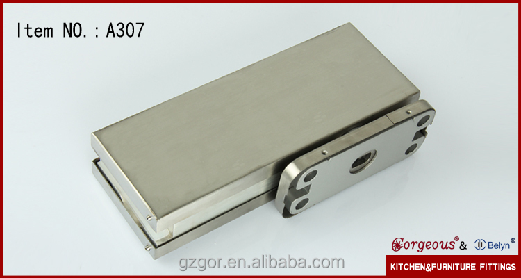 Heavy Duty Tempered Glass Door Fittings Floor Spring Pivot Hinge
