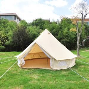 meet c0225 eb730 Cotton Canvas Teepee Desert Teepee Pyramid Yurt Bell Tent Sale with  Mosquito Net Door