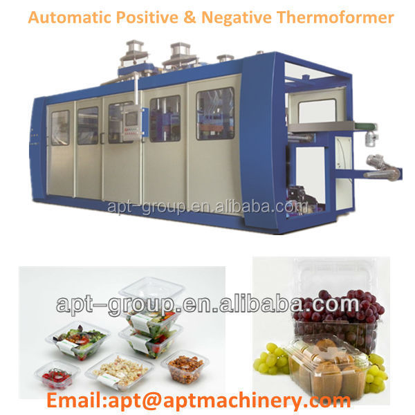 APT-78B Automatic Pressure Thermoforming Machine with Forming-Cutting-Stacking inline