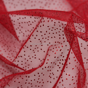 40D knit polyester glitter printing tutu Tulle mesh fabric