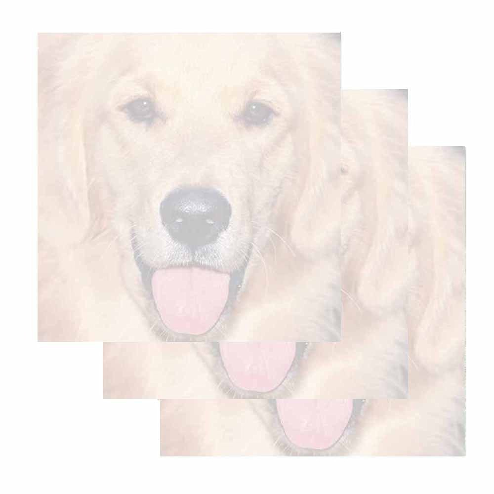Golden Retriever Dog Sticky Notes - Animal Breed Theme Design - Stationery Gift - Paper Memo Pad - Office Business School Supplies