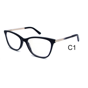 42308d77d1f Fashionable italy designer acetate combine metal cat eye optical frames in  stock
