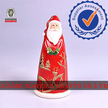 Santa Claus Ceramics Candlestick Decor