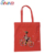 Handled Style Red Cotton Canvas Grocery Handbag Tote Bag for Shopping
