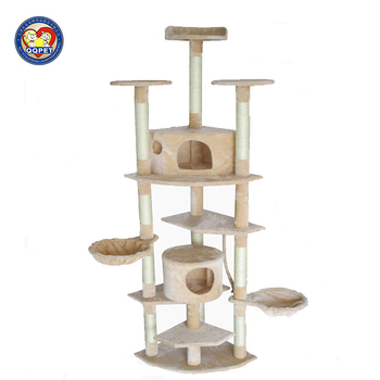Bsci Qq Factory Cat Tree Scratching Post With Hammock Cave