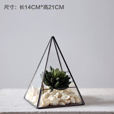 Vintage Copper Portable lantern Geometric Lantern Candle Holder For Wedding Home Decoration 9