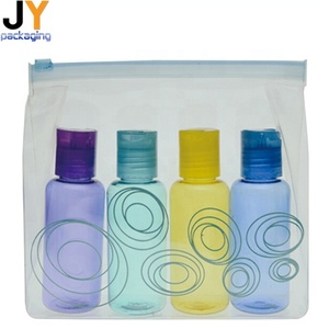Comfort economy wholesale shampoo/bath gel bottle travel kit set portable night cream hand lotion travel cosmetic bag