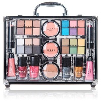 Professional Complete Aluminum Makeup Kit Beauty Cosmetic Gift Box Make Up Vanity Set