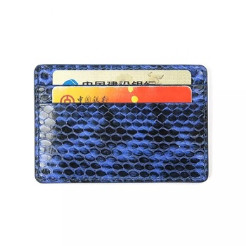 Genuine Exotic Skin Python Snake skin Leather Thin Card Holder Wallet