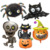 Halloween Pumpkin Ghost Balloons Halloween Decorations Spider Foil Inflatable Toys Bat Balloons