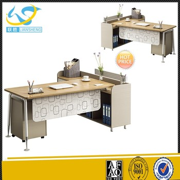 L Shaped Computer Desk Modern Office Furniture Executive Director Table  Design With Storage Cabinet   Buy Latest Office Table Designs,Durable  Modern ...