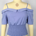 Women's Off Shoulder purple tops y blusas Blouse fast fashion clothing