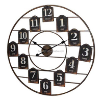 New Products Professional Antique Large Wooden and Metal 30 Inch Wall Clock