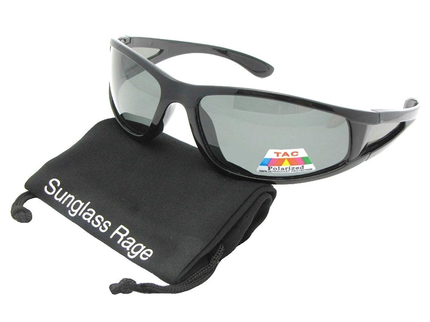 e8005781694 Get Quotations · Sunglass Rage Style PSR2 Polarized Wrap Around Sports  Sunglasses