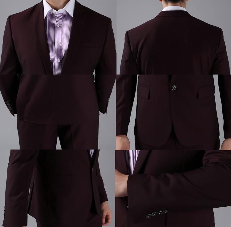 (Kurtki + Spodnie) 2016 Nowych Mężczyzna Garnitury Slim Fit Niestandardowe Garnitury Smokingi Marka Moda Bridegroon Biznes Suknia Ślubna Blazer H0285 72