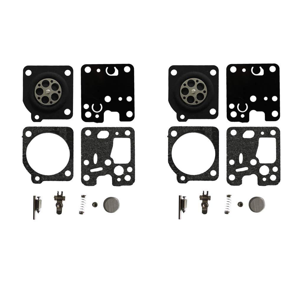 AISEN 2sets Carburetor Rebuild Diaphragm Gasket Kit for Zama RB-107 Echo GT-200 GT-201 SRM230 SRM231 SRM-200 SRM-201 HC-160 HC-180 HC-200