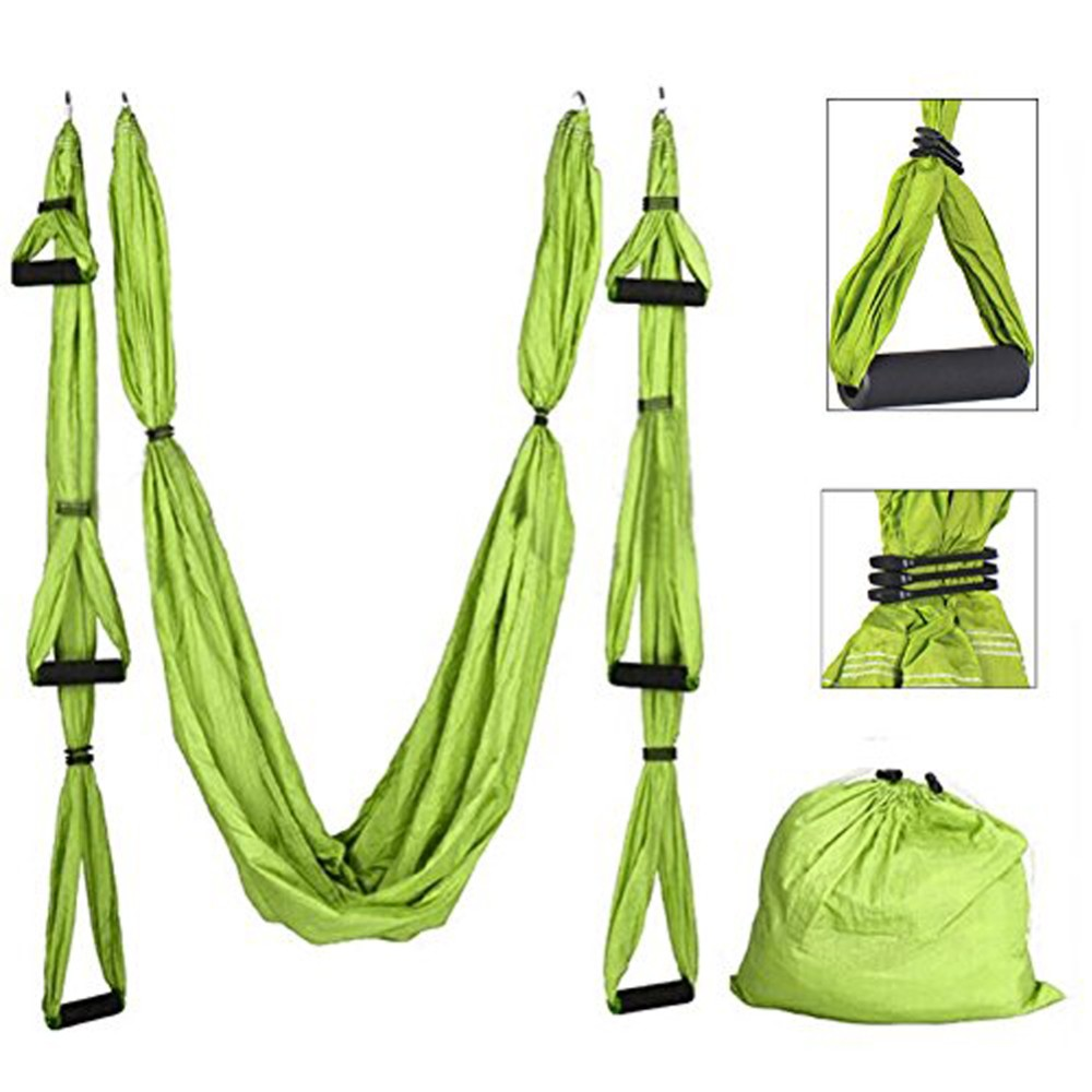 Heavy duty No-Stretch nylon OEM Camping set 2 Aerial Yoga Hammock swing hanging strap